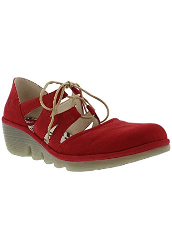 Fly London Phis843fly, Scarpe Col Tacco Punta Chiusa Donna Rosso (Lipstick Red)