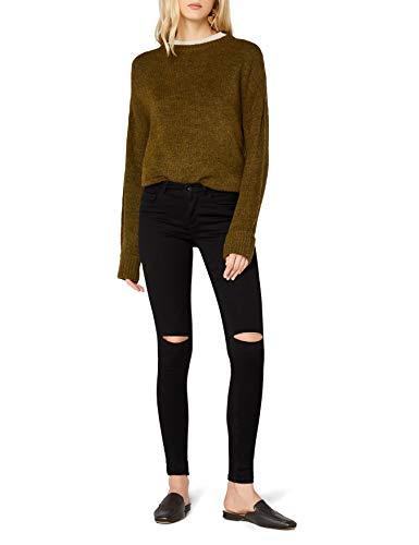 ONLY Damen Onlroyal Reg Sk Kneecut Jeans Pim600noos Jeanshose, Schwarz (Black), 40/L32 (Herstellergröße: L)