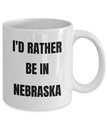 Nebraska Tasse Id Rather Be In Nebraska Kaffeetasse Nebraska Gag Geschenk Idee Nebraska Geschenk Korb für Männer oder Frauen (Starbuck-kaffee-geschenk-korb)