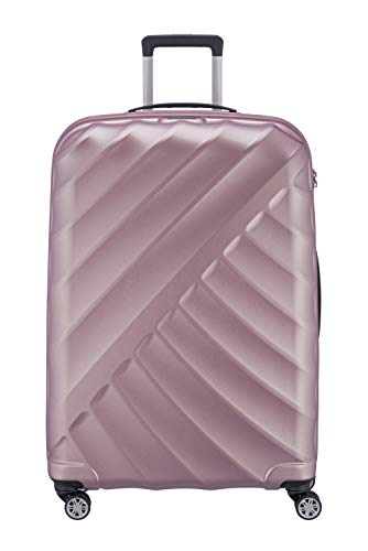 "TITAN \""SHOOTING STAR\"" von TITAN®: Robuste Hartschalen-Trolleys in coolem Metallic-Look in 4 Trendfarben Koffer, 77 cm, 109L, Rose"