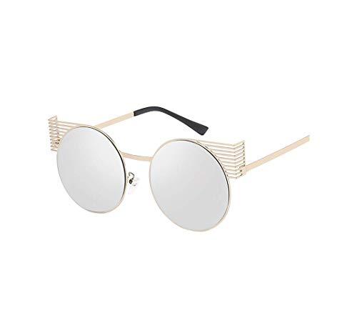 Runde Verspiegelt Sonnenbrille FüR Herren Und Damen SchüTzen Eyes Sonnenbrillen Linse VerfäRbung Linse Farblinse Ultraleicht Rahmen Travel Sonnenbrille Mit Garantiertem Uv-Schutz