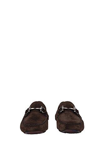 PARIGI80650288 Salvatore Ferragamo Loafers Herren Wildleder Braun Braun