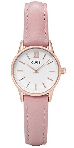 Cluse Unisex Erwachsene Digital Quarz Uhr mit Leder Armband CL50010