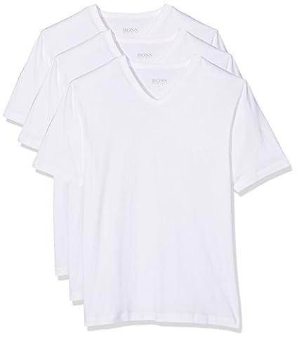 BOSS Hugo Boss Herren T-Shirt VN 3P CO,3er Pack Weiß (White 100), Small
