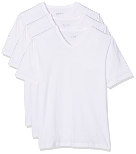 BOSS Hugo Boss Herren T-Shirt VN 3P CO,3er Pack Weiß (White 100),...