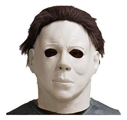 Halloween Horror Maske Voll Kopf Film Qualität Mit Haar ()