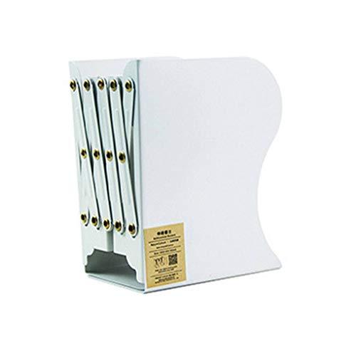 Ruiboury Retractable Buchhalter Scalable Lesepulte Metall Bücherregal Teleskop Desktop-Buch Storage Rack