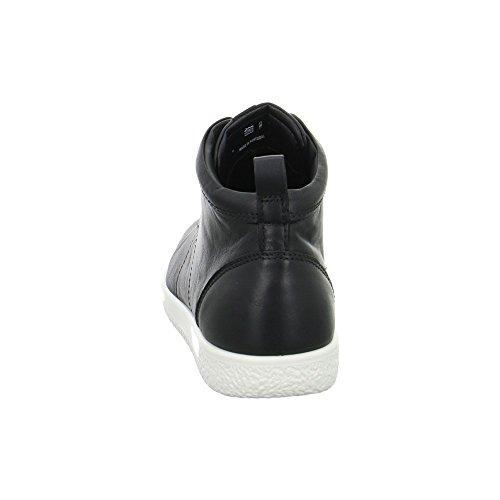 Ecco Soft 1 Ladies, Baskets Hautes Femme Noir (Black)