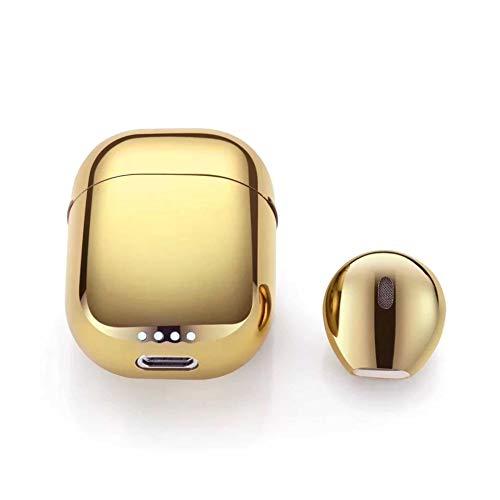 LHSZ Bluetooth-Headset Mini-Stereo-MiniklinkenDrahtlose Kinematik-Kopfhörer mit Ladeklappe Gold.