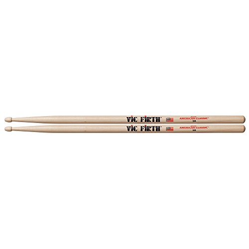 vic-firth-5a-american-hickory-wood-tip-drumsticks