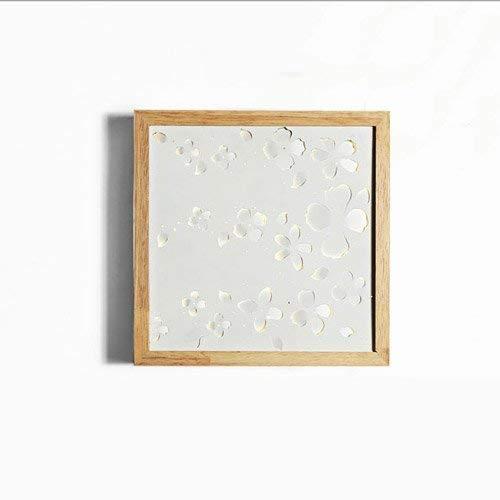 Lampen im japanischen Stil Wandleuchten Kreative Massivholz-Wandleuchte Minimalistisches Wohnzimmer Gang Dekorative Lichter LED-Chip Schlafzimmer Nachttischlampe (Farbe: WiFi-White Light) - Blossom Chip