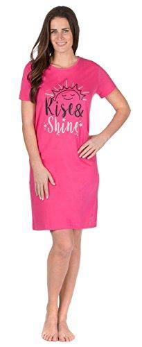 WomensLadies Short Sleeve Jersey Fun Prints Nightdress Night Shirt Nightshirt Nighties