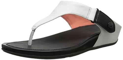 FitFlop Gladdie Tm Toe-Post, Tongs Femme Blanc