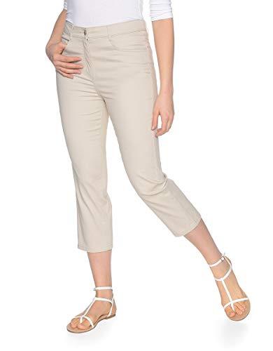 Bexleys by Adler Mode Damen 3/4 Hose in Baumwollqualität - Sommerhose, Kurze Hose, Dreiviertel-Hose, Bermudashorts - auch in Kurzgrößen erhältlich Hellbeige 23 -