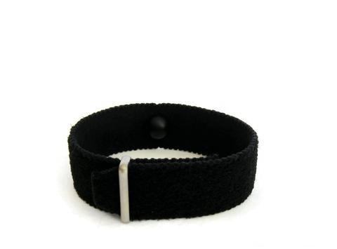 """Preisvergleich Produktbild Angst Bewältigen / Entspannung Armband (Einzelband) schwarz (mittel 7"""")"""