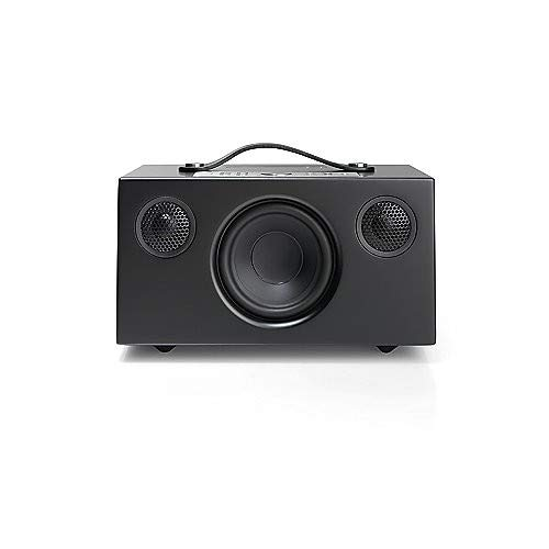 AudioProAddonC5AltavozAlexa(40Watt,Multiroom,Stereo,AirPlay,WiFi,Bluetooth,AlexVoice,SpotifyConnect,Deezer,Tidal,radio por internet como TuneIn,App)Color Negro