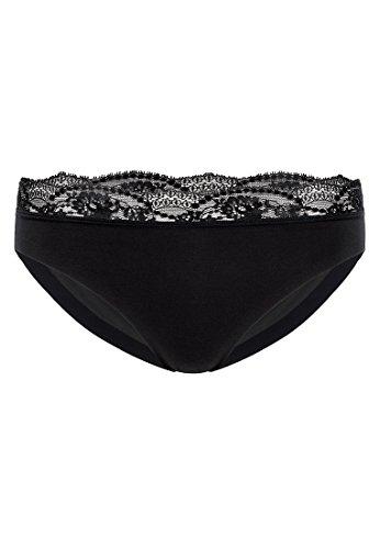 Wolford Damen Cotton Contour Lace Tanga black M