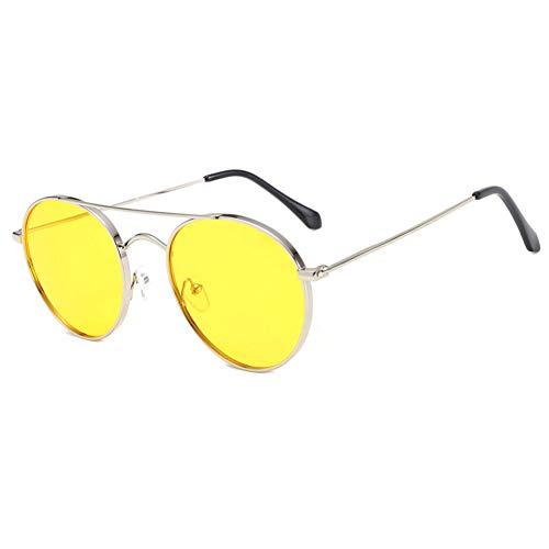 ZHENCHENYZ Sonnenbrille Männer und Frauen Korea Brille Metall runden Rahmen Mode Sonnenbrillen