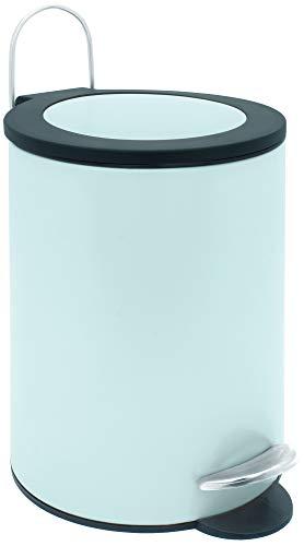 Sanwood 1008880 Treteimer FELINE mint mit flachem Deckel, Bad-Abfalleimer 3 Liter, Abfalleimer mit...