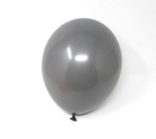 Twist4 25 Premium Luftballons - Made in EU - 100% Naturlatex somit 100% giftfrei und 100% biologisch abbaubar - Geburtstag Party Hochzeit Silvester Karneval - für Helium geeignet (Grau)