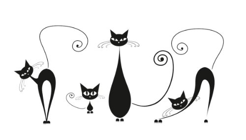 eurographics-50-x-70-cm-black-cats-deco-sticker-multi-colour