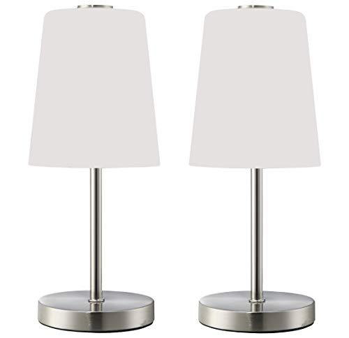 Trango 2er Pack LED Schreibtischlampe TG2017-95/2 I Tischleuchte I Nachttischlampe I Lampe I
