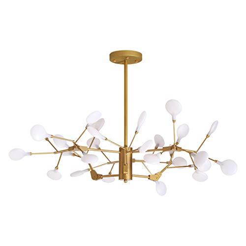 Hyvaluable lampadario a sospensione led lampadario a forma di foglia di albero lampadario a forma di lucciola semplice lampadario con camera da letto (colore : luce bianca)