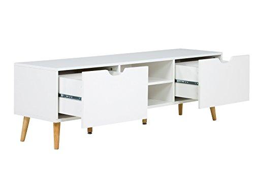 massivum Lowboard Wakefield 140x45x40 cm MDF weiß lackiert - 2