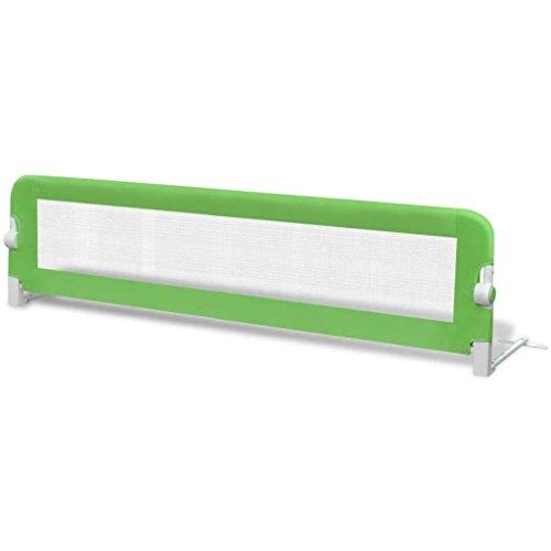 SOULONG Safety 1st Bettschutzgitter, Bettgitter Rausfallschutz beim Schlafen Klappbar passend für Kinder-Eltern-Bette (L x H) 150 x 42 cm Grün