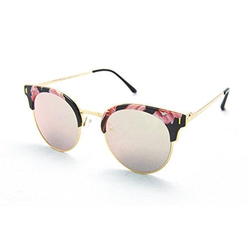 gafas-de-sol-para-mujer-xd-panda-color-de-lente-rosa-negro-montura-con-flores-rosa-brazo-metal-dorad