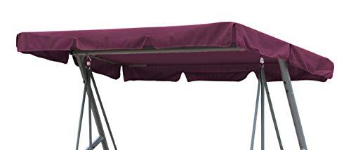 GRASEKAMP Qualität seit 1972 Ersatzdach Universal Hollywoodschaukel Bordeaux Ersatz-Bezug Sonnendach Dachplane