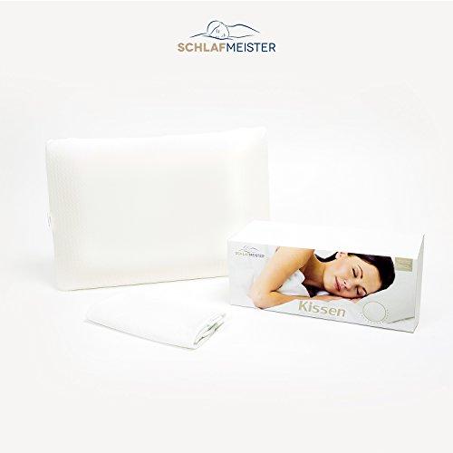 Oreiller Coussin - MÈmoire de Forme 100 % Visco-Èlastique - Ultra Confortable & Anti Allergique - LivrÈ avec 2 taies d'oreiller image 2
