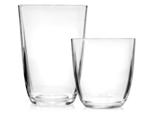 Bormioli Gläser Set 'Fresh' 12 teilig | Füllmenge 250 ml & 350 ml | Hochwertige Qualität für EIN perfektes Trinkgefühl ohne scharfe Kanten - Gläser Wasser Trink