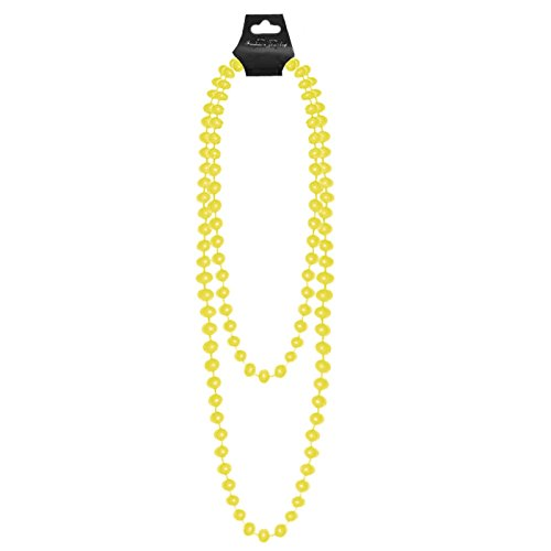 UV FANCY DRESS HEN NIGHT PARTY LONG NECKLACE STAG BRIGHT NEON PLASTIC BEADS 48