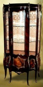 LouisXV Barock Vitrine Rokoko Antik Stil Schrank Louis XV MoVi0487 antik Stil Massivholz....