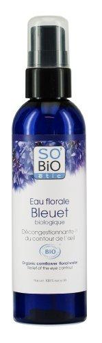 So'Bio Étic Eau Florale de Bleuet Bio Décongestionnante du Contour de l'OEil 200 ml Lot de 2