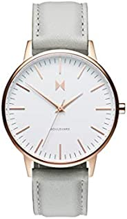 MVMT Boulevard Women's White Dial Grey Leather Watch - D-MB01-
