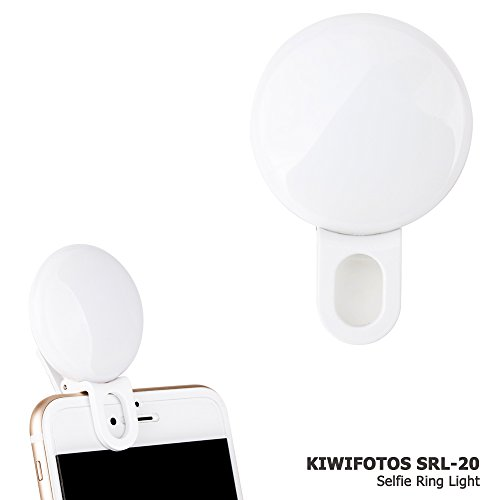 Android-handys, Iphones, Blackberry (LED Strahler Flash Selfie Licht Ring Kamera Foto Video Licht Lampe Handy für iPhone 8 7 7plus 6 6s plus 5 5s und Android Samsung Smart Phones(Weiß))