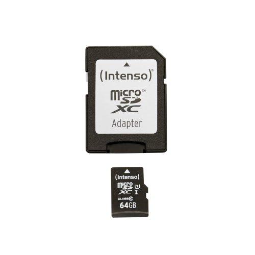 Preisvergleich Produktbild Intenso Micro SDXC 64GB Class 10 Speicherkarte inkl. SD-Adapter (UHS-I)