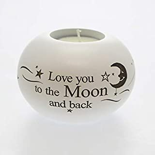 Said with sentiment by Arora Design - Love You to the Moon and Back - Tea Light Holder