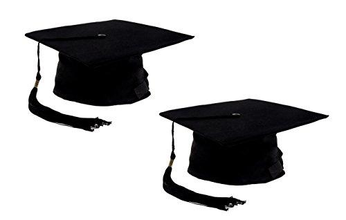 Einfach Spaß College Kostüm - Einheitsgröße für Erwachsene (Kopfumfang ca. 52-60cm)  2 Stück Schwarz