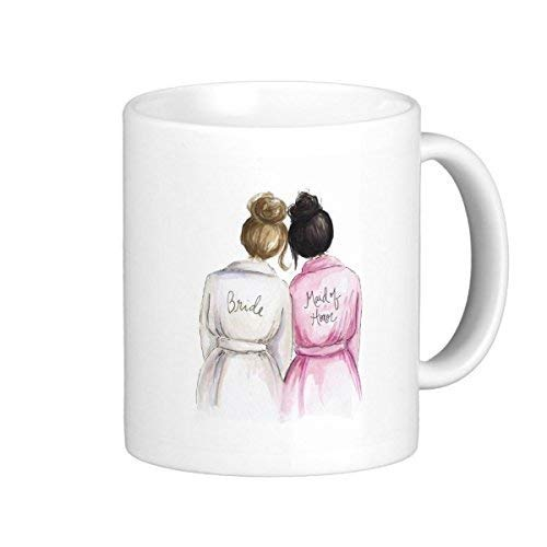 TimetoShine Maid Of Honor? Mug Br Bun Bride Black Bun Maid 11 oz - Deckel Bun Mädchen