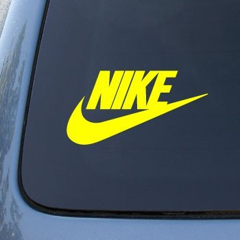 Aufkleber NIKE - Vinyl Car Decal Sticker #1913 | Vinyl Color: Yellow (Park Nike-mädchen)