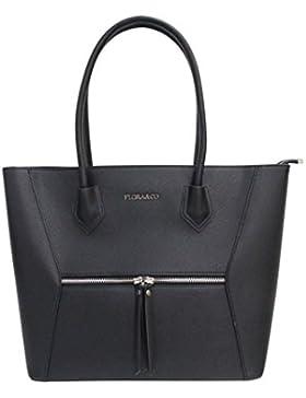 Flora & Co (Farbauswahl) Damen Handtasche PU-LEDER Schultertasche Tasche Freizeit/Schule/Büro