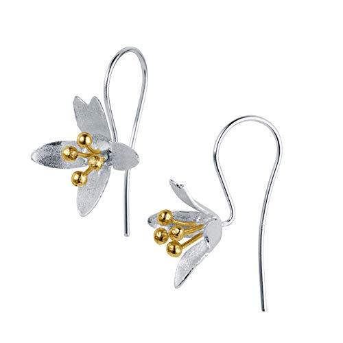 Christin Ranger Silber Blume Haken Ohrringe, Crocus.