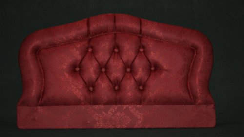 4FT6 SALISBURY HEADBOARD IN BURGUNDY DAMASK FABRIC