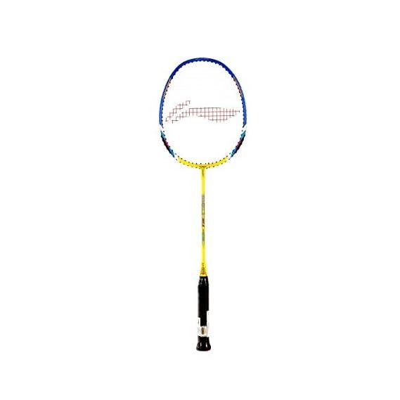 Li-Ning XP 60-II Badminton Racquet (Strung), S2 Grip Size, (Yellow/Blue)