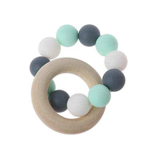 Jiamins Baby Nursing Bracelets Wooden Teether Silicone