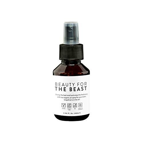 WC Geruchsblocker von Beauty For The Beast I Natürlicher WC Geruchsneutralisierer I WC Geruchskiller mit organischem Grapefruitöl I Nachhaltige Alternative zu chemischen Geruchssprays