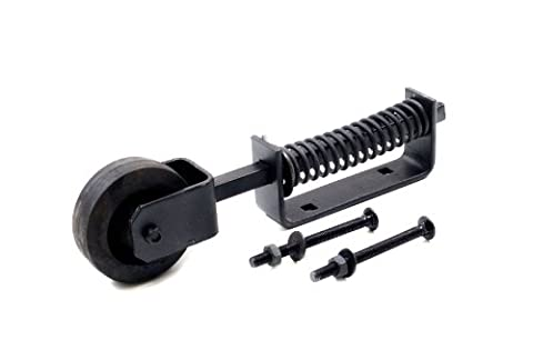 1st Fix South Heavy Duty Spring Loaded Gate Wheel/Castor Black